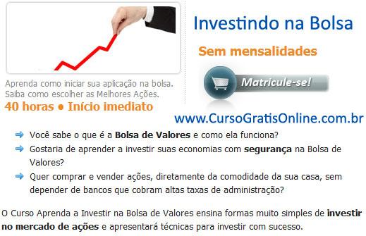 Ações na Bolsa de Valores