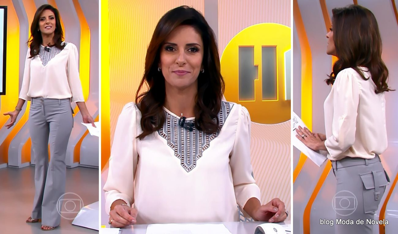 moda do programa Hora 1, look da Monalisa Perrone dia 15 de janeiro de 2015