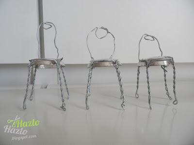 Cómo hacer sillas en miniatura reciclando sujeta tapones