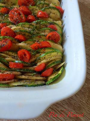Verdure ai semi di papavero