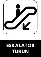 Rambu Eskalator Turun