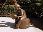 Homework Comes First, a bronze sculpture by Martha Pettigrew is located at the Renton Public Library