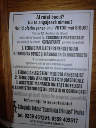 Cursuri de pregătire profesională: ofertă pentru rataţii bacalaureatului 2013, Oradea #1