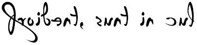 Font cal·ligràfica P22 Da Vinci Backwards