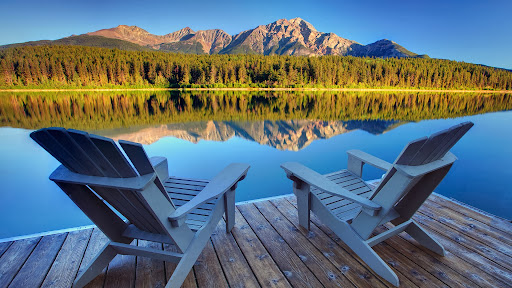 Best Seat In The House, Patricia Lake, Jasper National Park, Alberta.jpg