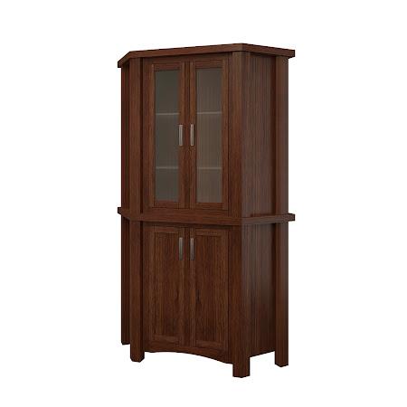 Dakota Corner Cabinet in Temperance Walnut