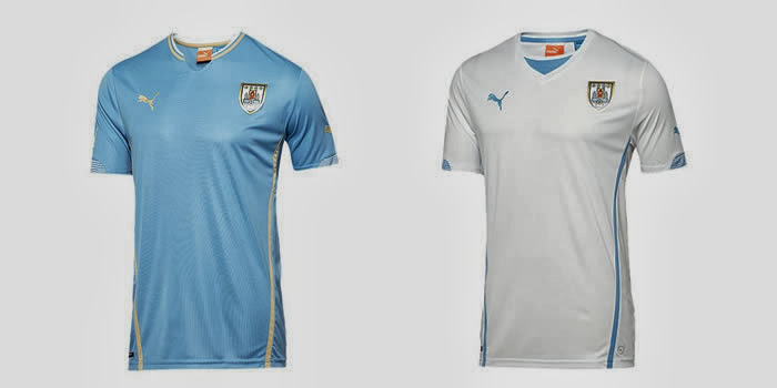 Uruguay Kits 2014 World Cup Home & Away Official Shirts Leaked