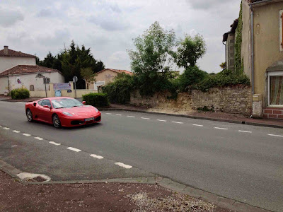 French village diaries Silent Sunday Rouillac Beer cycling ferrari rally Cognac vineyards