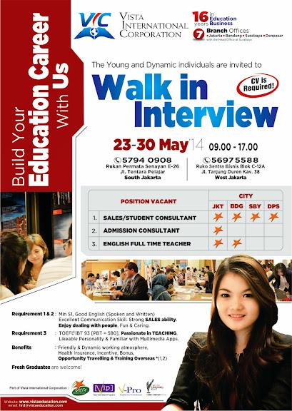 career, walk in interview, lowongan kerja, lowongan kerja di surabaya, lowongan di jakarta, lowongan di bali, marketing