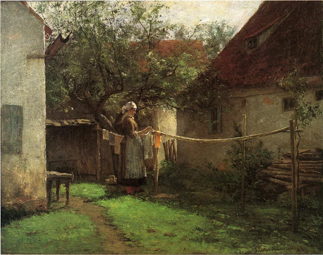 J. Ottis Adams - Wash Day, Bavaria