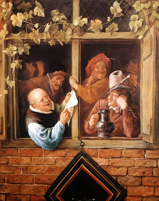 Jan Steen - Rhetoricians at a Window