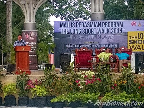 YBhg. Dato' Dr. Tan Weng-Ketua Pengarah JKJR Malaysia memberi ucapan