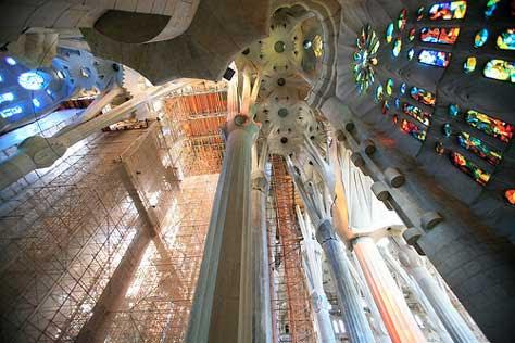 La Sagrada Familia, foto interior