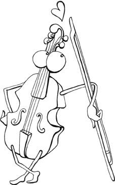 Violin para colorear