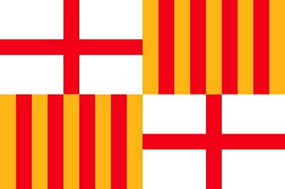 Bandera,  Флаг Барселоны, Barcelona, Cataluna, Каталония, Барселона, достопримечательности Барселоны, недвижимость в Испании, CostablancaVIP