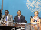 Conférence de presse de l'Onu du 29/10/2014 à Kinshasa. Radio Okapi/ Ph.  Bompengo