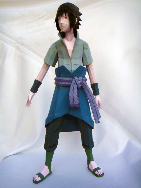 Naruto Sasuke Paper Model