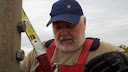 Terry W8ZN atop microwave tower