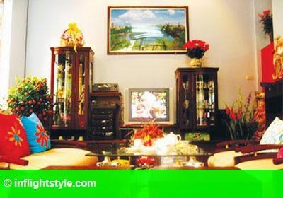 Hình 1: Phong thủy trang trí phòng khách đón Tết