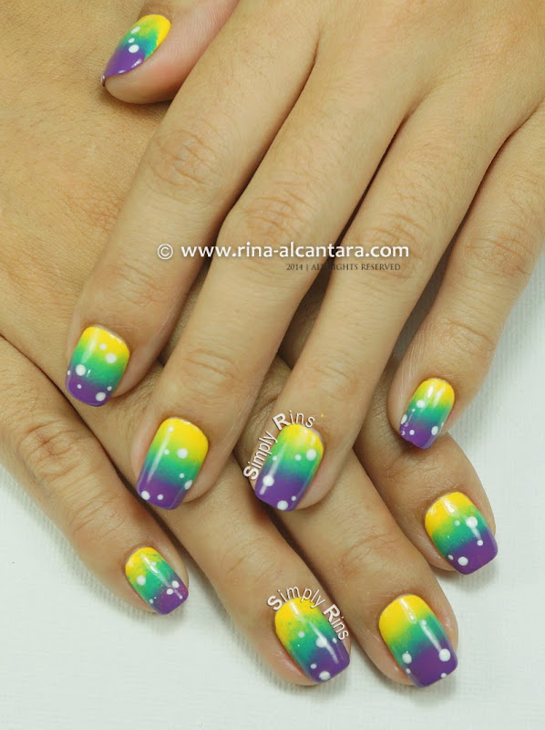 80s Gradient Nail Art Design by Simply Rins