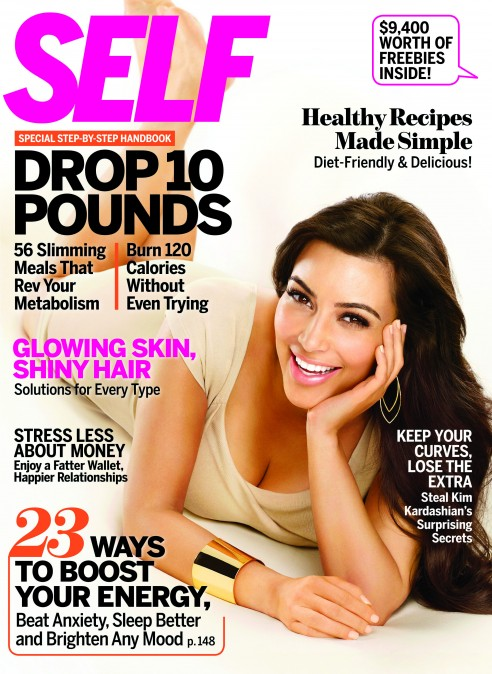 Kim Kardashian Goes Au Naturel For SELF Magazine…..