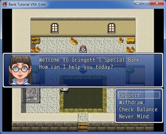 Bank Tutorial Using Events (RM2K3/XP/VX/VXA) | RPG Maker Times