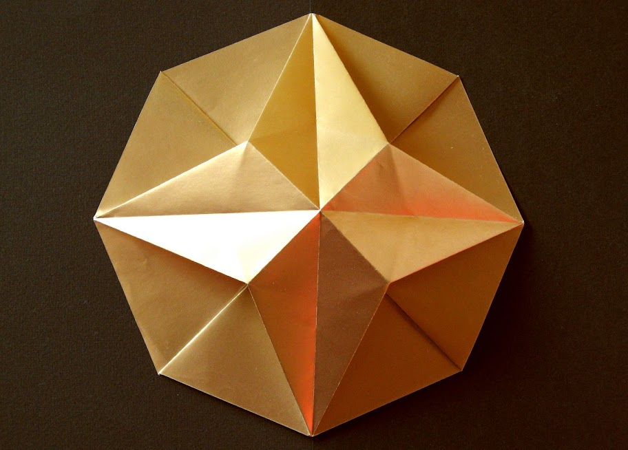 origami foto Stella in ottagono 1 - Octagonal Star 1 by Francesco Guarnieri