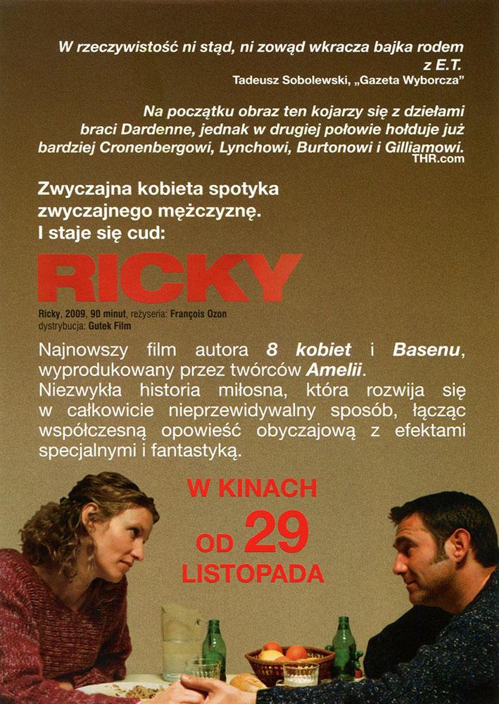 Ulotka filmu 'Ricky (tył)'