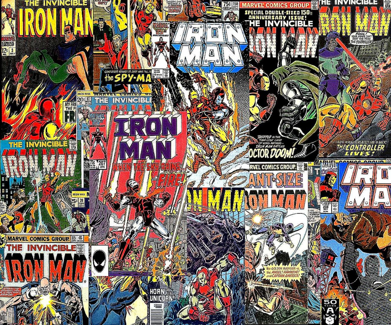 Download Vintage Comics Iron Man Wallpaper 1600x1200  Full HD