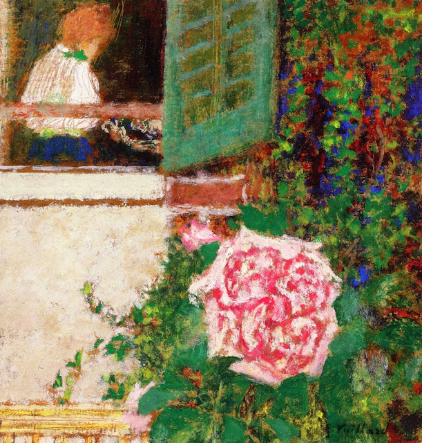 Édouard Vuillard - Young Woman at the Window and Flower