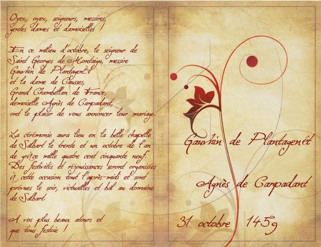 Mondanités et invitations Mariage_agnes