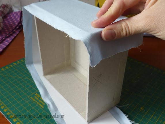Мастер класс: Шкатулке в технике картонаж