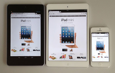 Nexus7、iPad mini、iPhone5