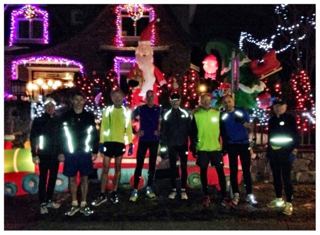 Capilano Eagles Running Club: 2014 Capilano Eagles Xmas lights run