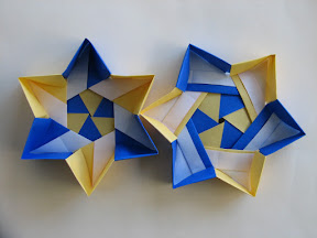origami 6 pointed star box