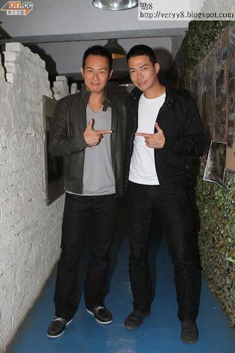 張兆輝(左)與謝天華笑言拍劇時要相依為命。
