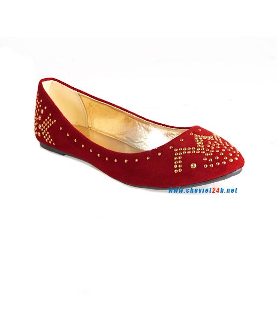 Giày búp bê thời trang Sophie Velvet Red
