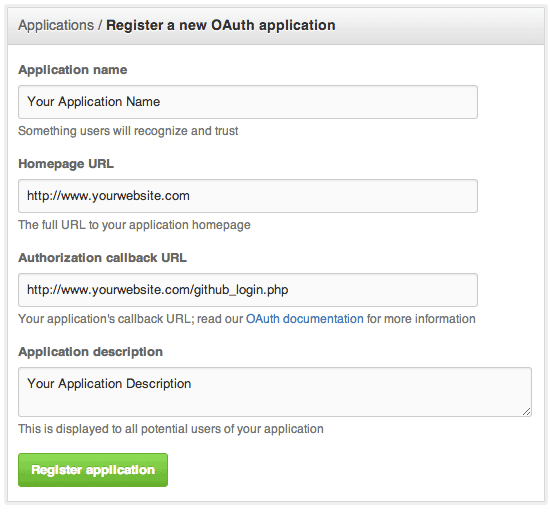 Login with Github OAuth PHP