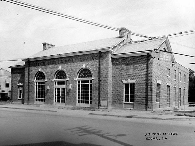 Houma, LA post office, 1935