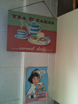 Tea and Cakes Sign, Babycham poster