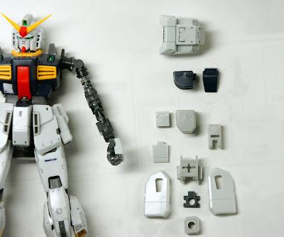 RG ガンダムMk-�U(白)を作る その4