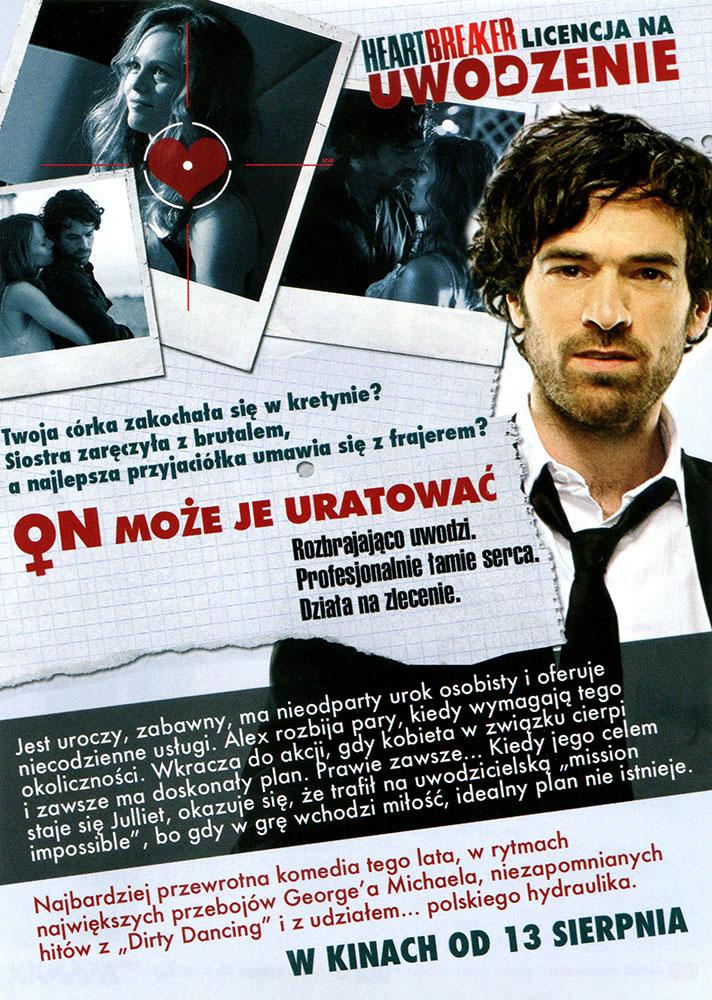 Ulotka filmu 'Heartbreaker. Licencja Na Uwodzenie (tył)'