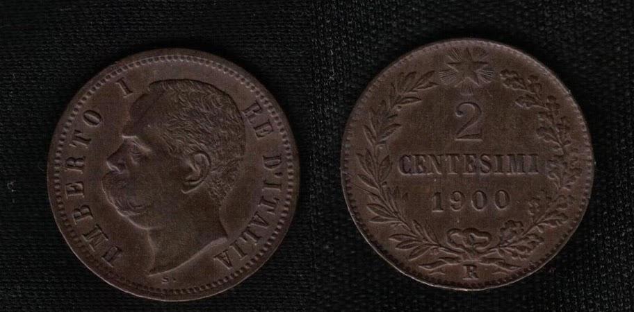 Mi colección de monedas italianas. 2%20centesimi%201900%20R