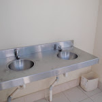 Hand basin in toilet