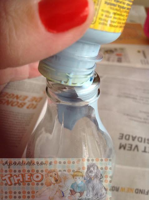 vaso de garrafa - Aprendendo com o Theo