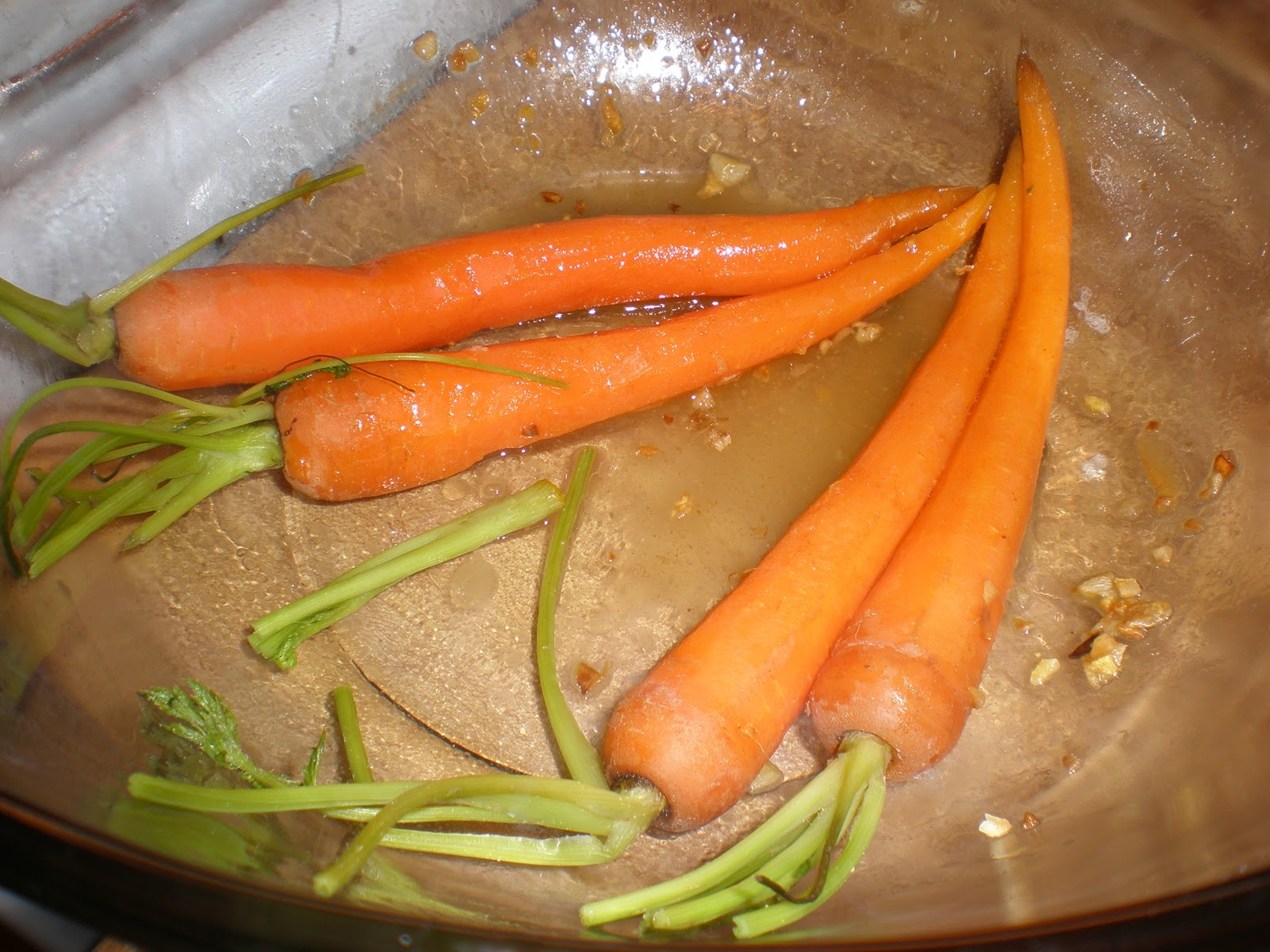 Steamed Baby Carrots with Ginger Garlic Butter