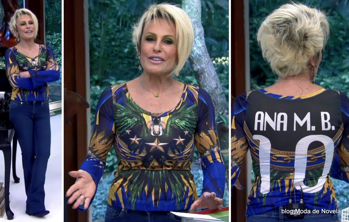 moda do programa Mais Você - look da Ana Maria Braga dia 8 de julho