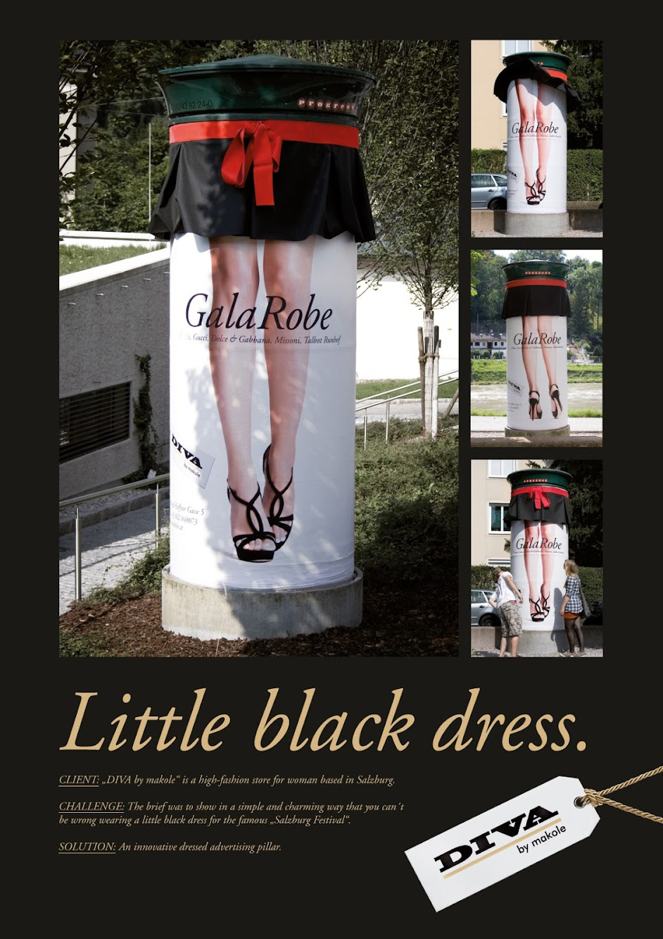 That Little Black Dress Found It's Way On To A Pillar