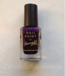 Barry M nail polish vivid purple