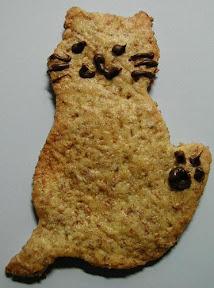 ネコの型抜きクッキー